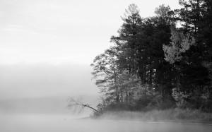 siyah beyaz manzara